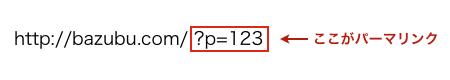 IDによるパーマリンクの例